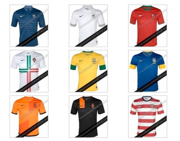 Øverst fra venstre: Frankrike (H), Frankrike (B), Portugal (H). Midten fra venstre: Portugal (B), Brasil (H), Brasil (B). Nederst fra venstre: Nederland (H), Nederland (B), USA (H)